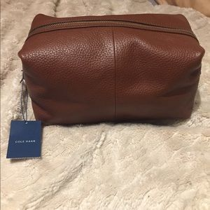 Cole Haan leather travel bag in Tan